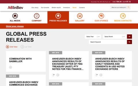 Global press releases