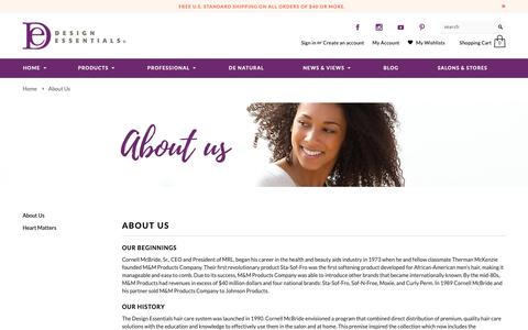 Screenshot of About Page designessentials.com - About Us | Design Essentials - captured Nov. 4, 2018