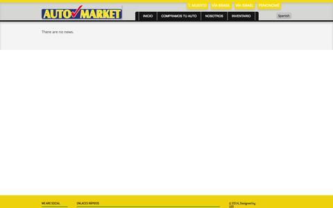 Screenshot of Press Page automarketpanama.com - Our News - captured Oct. 27, 2014