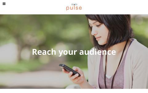 Screenshot of Home Page sendapulse.com - Pulse – Send a Pulse Media - captured Nov. 13, 2016