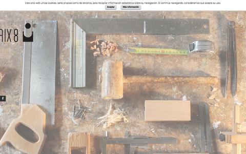 Screenshot of Home Page encaix8.com - ENCAIX8 | Equipament comercial - captured July 17, 2015