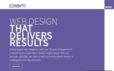 Screenshot of Home Page dsm-design.co.uk - Web Design in Poole & Bournemouth - Custom Websites - DSM Design - captured Nov. 6, 2018