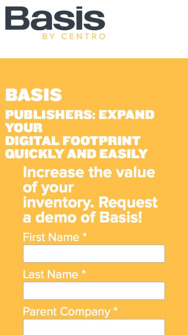 Basis Audience Extension