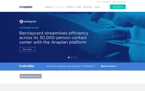 Customers | Anaplan