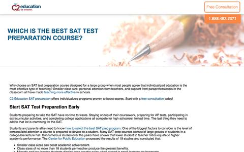 Screenshot of c2educate.com - Which is the Best SAT Test Preparation Course? - captured June 1, 2017