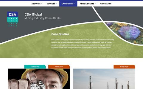 Screenshot of Case Studies Page csaglobal.com - Case Studies - CSA Global - captured Dec. 6, 2015