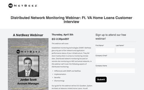 Distributed Network Monitoring VA Home Loans Interview