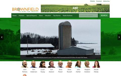 Screenshot of Home Page brownfieldagnews.com - Brownfield Ag News | - captured Jan. 7, 2016