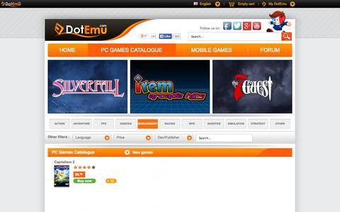 Screenshot of Team Page dotemu.com - PC Games Catalogue - [MANAGEMENT] - captured Sept. 19, 2014