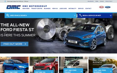 Screenshot of Home Page omcmotorgroup.co.uk - First for Ford Oldham, Manchester, Rochdale and Accrington - captured Sept. 20, 2018