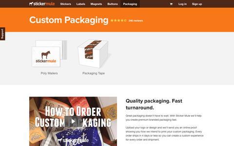 Custom Packaging - Sticker Mule