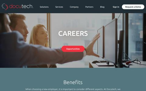 Screenshot of Jobs Page docutech.com - Careers | Docutech LLC - captured Aug. 7, 2018