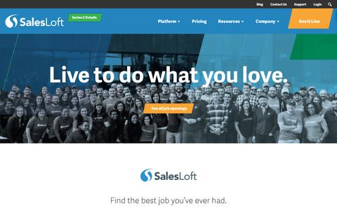 Screenshot of Jobs Page salesloft.com - Career Opportunities - SalesLoft - captured April 26, 2018