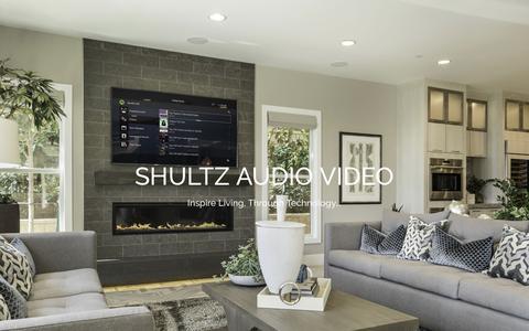 Screenshot of Home Page shultzav.com - San Diego Audio Video   San Diego Home Theater   Shultz AV - captured Oct. 19, 2018