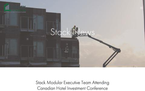 Screenshot of Press Page stackmodular.com - News — Stack Modular - captured June 16, 2017