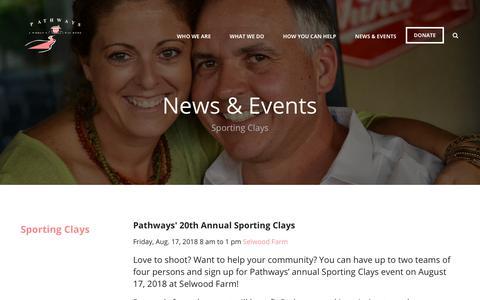 Screenshot of Press Page pathwayshome.org - pathwayshome.org/sportingclays - captured Nov. 10, 2018