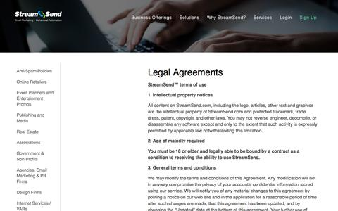 Email Marketing Solutions - Legal Agreements.