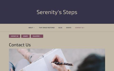 Screenshot of Contact Page serenityssteps.org - Contact Us - Serenity's Steps - captured Dec. 19, 2015