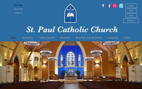 Screenshot of Home Page stpaulcatholic.net - ST. PAUL - captured Oct. 20, 2018