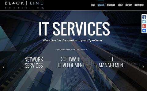 Screenshot of Services Page blacklineconsulting.com - Services - Black Line Consulting - captured March 30, 2016