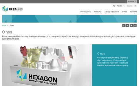 Screenshot of About Page hexagonmi.com - O nas | Hexagon Manufacturing Intelligence - captured Nov. 25, 2017