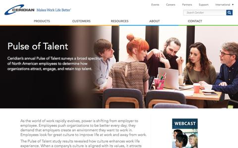 Pulse of Talent | Talent Management | Ceridian