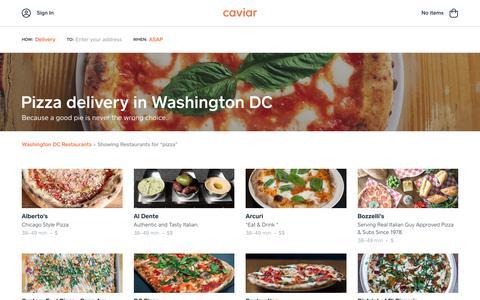 Pizza delivery in Washington DC | Caviar