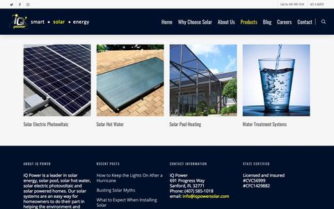 Screenshot of Products Page iqpowersolar.com - Products Archive - iQ Power Florida Solar Energy Residental Commercial - captured Nov. 21, 2017