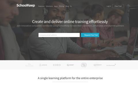 Train Employees, Customers and Channel Partners with Our Learning Platform | SchoolKeep
