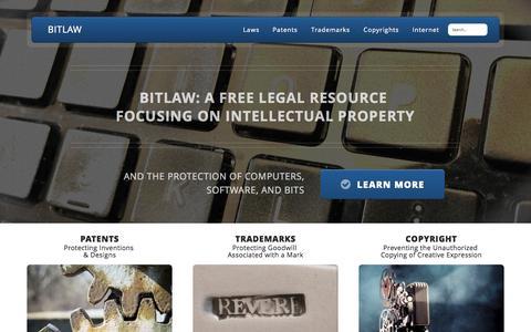 Screenshot of Home Page bitlaw.com - BitLaw - captured Oct. 7, 2015