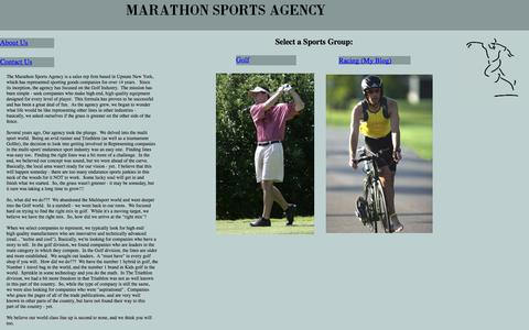 Screenshot of Home Page marathonsportsagency.com - Marathon Sports Agency - captured Sept. 30, 2014