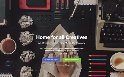 Screenshot of Home Page talenthouse.com - Talenthouse - captured Jan. 9, 2016