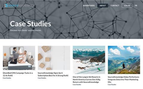 Screenshot of Case Studies Page sourceknowledge.com - Case Studies | SourceKnowledge - captured Nov. 18, 2018