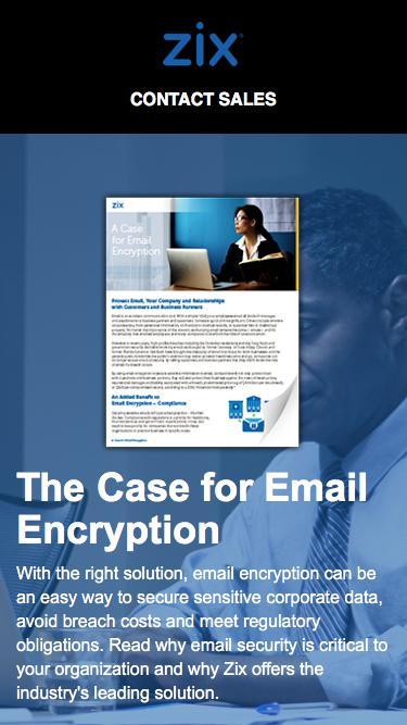 Ebook | The Case for Email Encryption