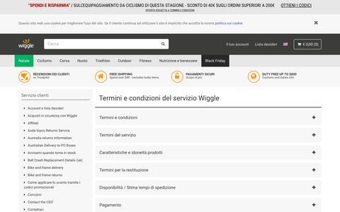 Screenshot of Terms Page wigglesport.it - Wiggle Servizio clienti - captured Nov. 17, 2018