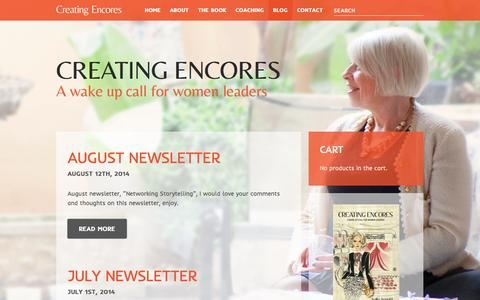Screenshot of Blog creatingencores.co - Blog Archives - Creating Encores - captured Sept. 30, 2014