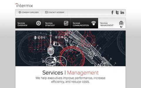 Screenshot of Team Page intermixconsulting.com - Intermix: We bridge the gap between strategy and results. - captured Oct. 4, 2014