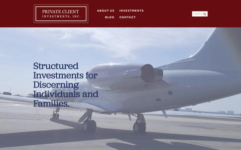 Screenshot of Home Page Blog privateclientinvesting.com - Hard Money Lenders | Bridge Loans | Commercial Private Money Lending - captured Aug. 6, 2018