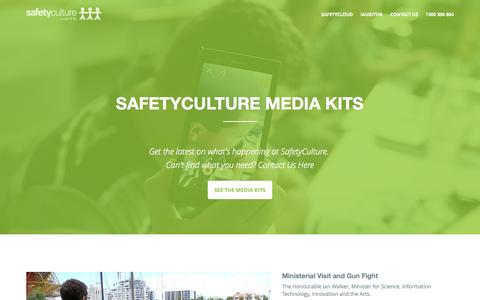 Screenshot of Press Page safetyculture.com.au - SafetyCulture Media - captured Sept. 17, 2014