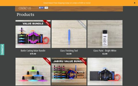 Screenshot of Products Page bottlecutting.com - Products – Bottle Cutting Inc. - captured Nov. 18, 2015