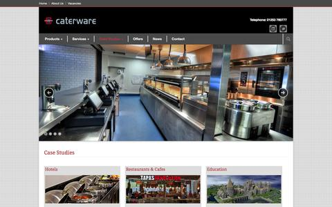 Screenshot of Case Studies Page caterware.co.uk - Caterware Ltd. Case Studies » Caterware Ltd. - captured Oct. 1, 2014