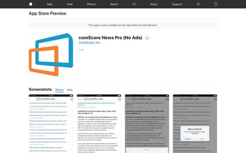 comScore News Pro (No Ads) on the AppStore