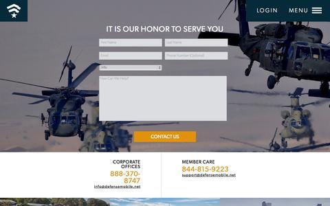 Screenshot of Contact Page defensemobile.net - DEFENSE MOBILE - captured Oct. 29, 2014