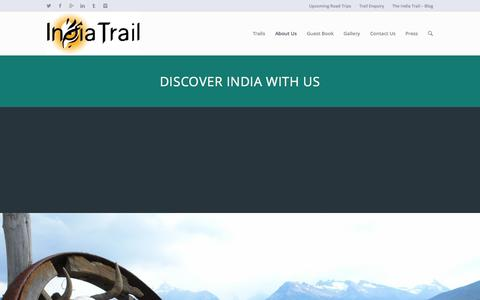 Screenshot of Team Page indiatrail.org - The Team - The India Trail - captured Oct. 27, 2014