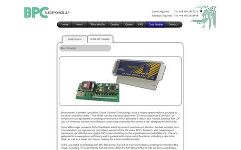 Screenshot of Case Studies Page bpc-electronics.com - PCB layout - captured Oct. 4, 2014