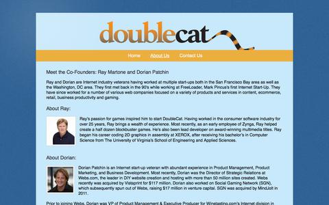 Screenshot of About Page doublecat.com - DoubleCat - About Us - captured Aug. 7, 2018