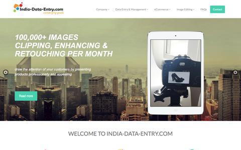 Screenshot of Home Page india-data-entry.com - India Data Entry | eCommerce Product Data Entry Services - captured Dec. 26, 2017