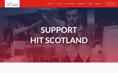 Screenshot of Support Page hitscotland.co.uk - HIT Scotland — Support HIT - captured Nov. 4, 2018
