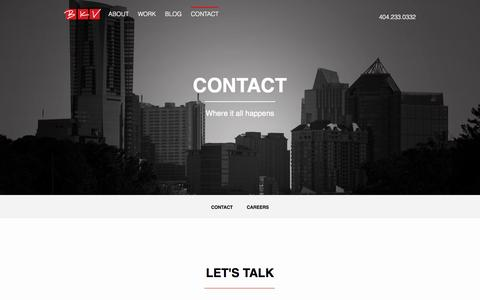 Screenshot of Jobs Page bkv.com - Contact BKV: Digital & Direct Response Marketing Agency in Atlanta, GA - captured Sept. 19, 2014
