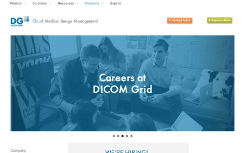 Screenshot of Jobs Page dicomgrid.com - Careers   | DICOM Grid - captured May 25, 2016